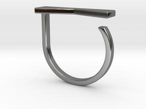 Adjustable ring. Basic model 12. in Fine Detail Polished Silver