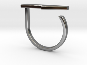 Adjustable ring. Basic model 13. in Fine Detail Polished Silver