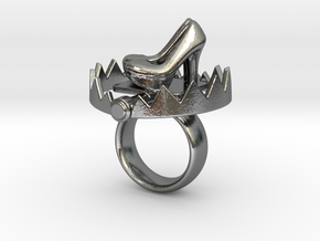 Ring Snap Trap  in Polished Silver: 4.25 / 47.125