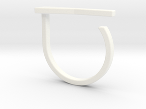 Adjustable ring. Basic model 15. in White Processed Versatile Plastic