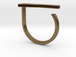 Adjustable ring. Basic model 15. in Polished Bronze