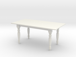 1:24 Dining Table 2 (NOT FULL SIZE) in White Strong & Flexible