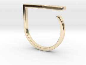Adjustable ring. Basic model 16. in 14K Yellow Gold