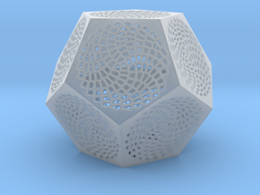 Voronoi Dodecahedron Lampshade ~ 120mm tall in Smooth Fine Detail Plastic