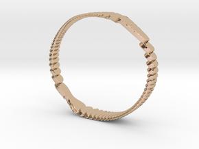 Parametric Bracelets in 14k Rose Gold