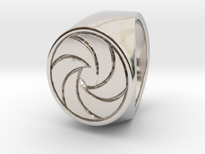 Paul F. - Signet Ring - US 9 - 19 mm inside in Rhodium Plated