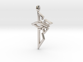 Ingress Enlightened Left Earring in Rhodium Plated Brass