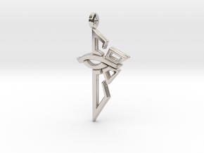 Ingress Enlightened Left Earring in Rhodium Plated Brass
