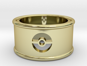 Pokeball Cutout Ring size 7 in 18K Gold Plated