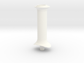 G Scale Chimney #1 (GRS Hunslet) in White Processed Versatile Plastic