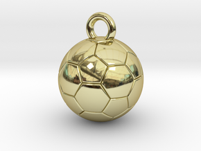 SOCCER BALL A in 18k Gold Plated Brass