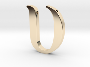 Upsilon in 14K Yellow Gold