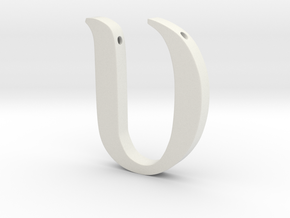 Upsilon in White Natural Versatile Plastic