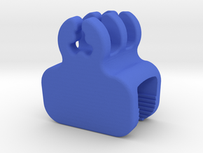 Desk Edge Cable Holder in Blue Processed Versatile Plastic