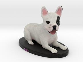 Custom Dog Figurine - Dali in Full Color Sandstone