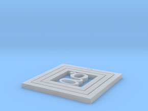 Coaster Square in Smooth Fine Detail Plastic