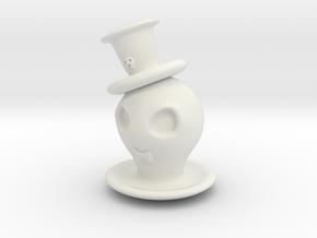 Halloween Hollowed Figurine: GentlemanGhosty in White Natural Versatile Plastic
