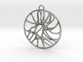 'Connect' Pendant in Natural Silver
