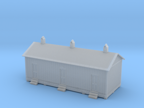 HO Engine Yard Labors House in Smooth Fine Detail Plastic