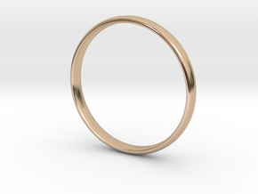 Simple wedding/engagement band - size 6 US in 14k Rose Gold Plated Brass