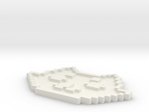 Roxy Symbol Pendant/Keychain in White Natural Versatile Plastic