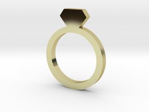 Placeholder Ring in 18k Gold