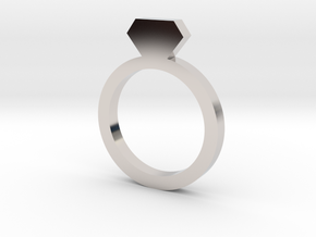 Placeholder Ring in Rhodium Plated Brass