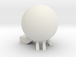EPCOT Spaceship Earth Model in White Natural Versatile Plastic