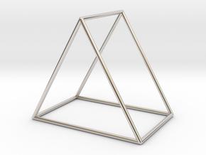 Triangle Bracelet - Medium in Rhodium Plated Brass