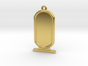 Customizable Ancient Egyptian Cartrouche in Polished Brass