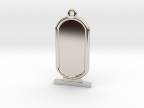 Customizable Ancient Egyptian Cartrouche in Rhodium Plated Brass