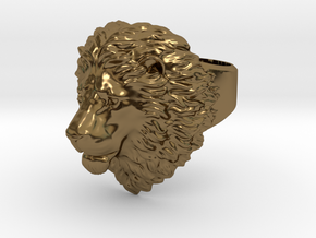 Calm Lion Ring in Polished Bronze: 11.5 / 65.25