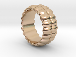 Mirror Ring 17 - Italian Size 17 in 14k Rose Gold Plated Brass