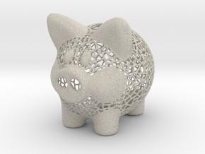 Peak A Boo Piggy Bank 2 Inch Tall in Natural Sandstone