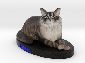 Custom Cat Figurine - Lorna in Full Color Sandstone