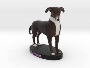 Custom Dog Figurine - Caesar in Full Color Sandstone