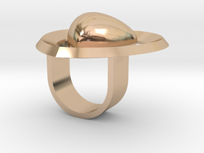 Saturno Hearts 02 17 in 14k Rose Gold
