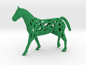 Horse in Green Processed Versatile Plastic