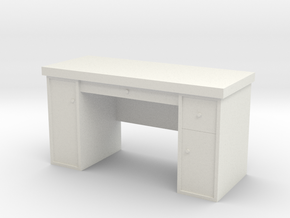 1:35 Scale Desk  in White Natural Versatile Plastic