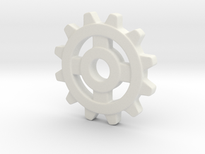 One Inch Eight Normal Spoke Gear in White Natural Versatile Plastic