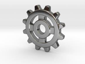 One Inch Eight Normal Spoke Gear in Fine Detail Polished Silver