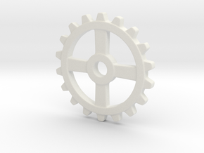 One and a half Inch Four Normal Spoke Gear in White Natural Versatile Plastic