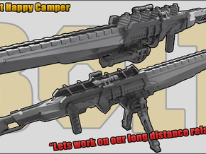 Happy Camper: Sniper Rifle in White Natural Versatile Plastic