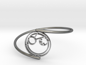 Adam - Bracelet Thin Spiral in Polished Silver