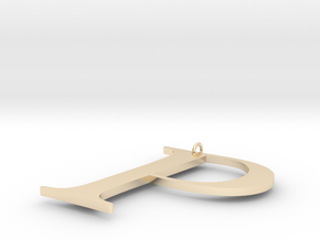 P in 14K Yellow Gold