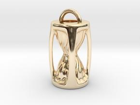 Sanduhr / Hourglass Pendant in 14K Yellow Gold
