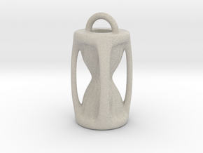 Sanduhr / Hourglass Pendant in Natural Sandstone