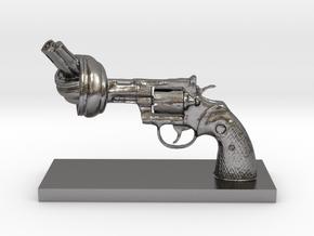 No-violence gun - Antiques in Polished Nickel Steel