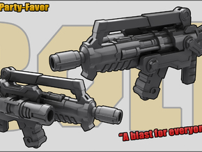 Party Favor: Assault Rifle in White Strong & Flexible