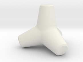 Tetrapod in White Natural Versatile Plastic